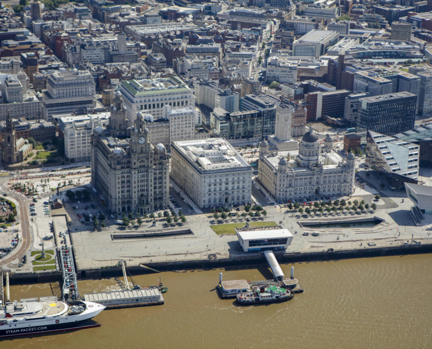 liverpool, aerial photography, liverpool docks, river mersey, commission air